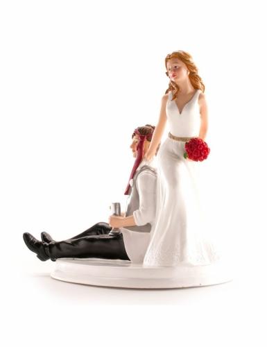 Figurine mariés humoristique 14 cm-1