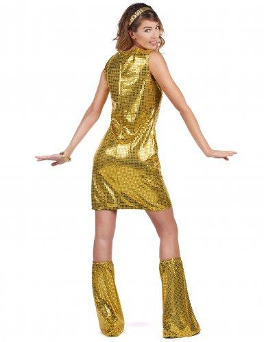 Déguisement Disco doré à sequins femme-2