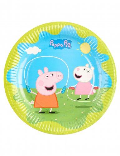 6 Assiettes en carton Peppa Pig™ 23 cm-1