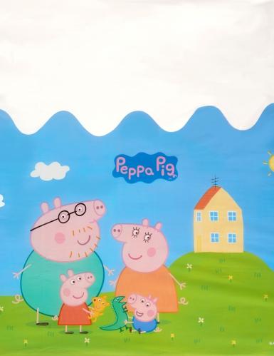 Nappe en plastique Peppa Pig™ 130 x 180 cm-1