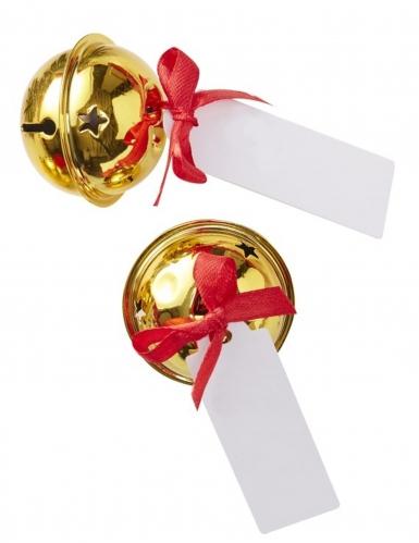 6 Marque-places clochettes dorées 4 cm