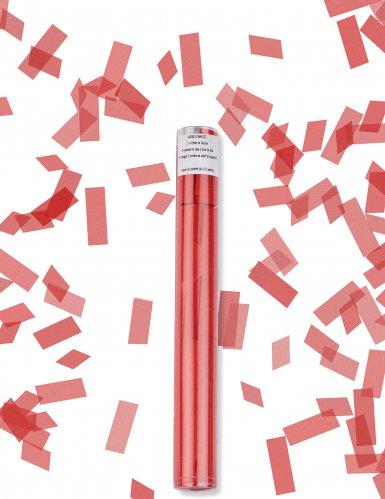 Canon à confettis rectangle rouge