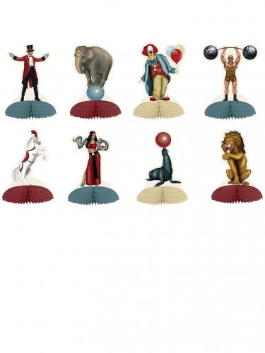 8 Mini centres de table thème Cirque Vintage 12,7 cm
