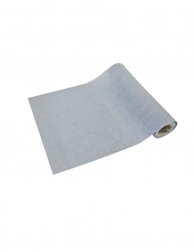 Chemin de table en toile gris 29 cm x 5 m