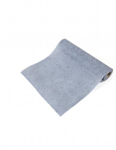Chemin de table intissé en relief gris 5 m
