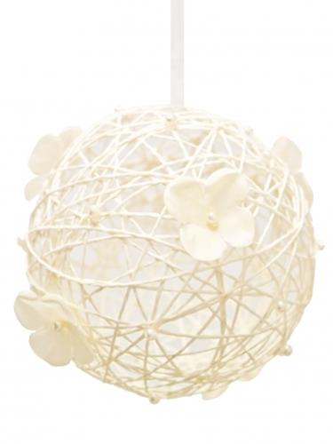 Boule décorative à suspendre ivoire 12 cm