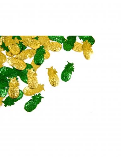Confettis de table Ananas jaune et vert 10 grs