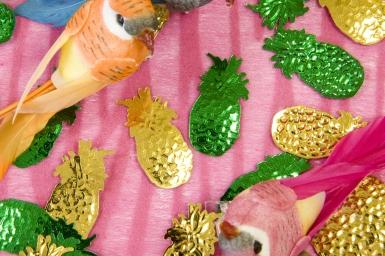 Confettis de table Ananas jaune et vert 10 grs-1