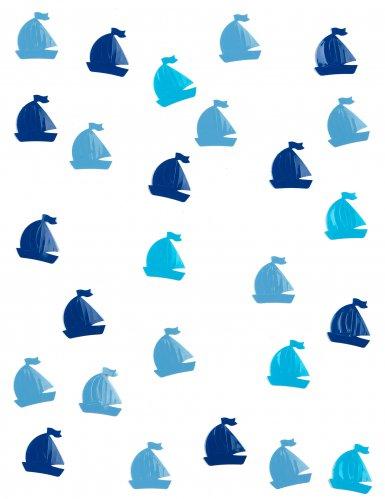 Confettis de table Voilier bleu 10 grs