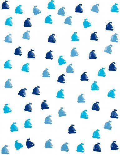 Confettis de table Voilier bleu 10 grs-1