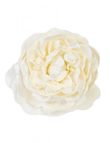 Décoration de table Rose ancienne ivoire 12 cm