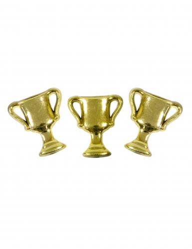 10 Confettis de table coupe doré 2 cm