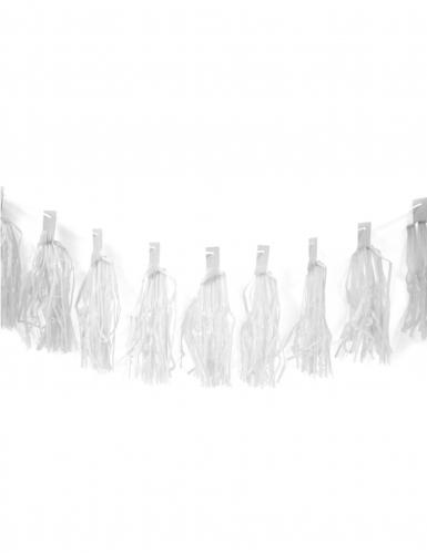 Guirlande de 20 tassels blancs 4 m