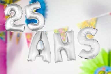Ballons aluminium lettres ANS argentés 36 cm-1