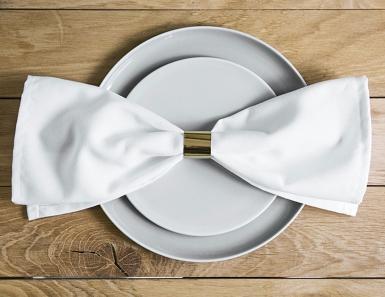 10 Ronds de serviette en papier double face doré métallique 2,5 cm-2