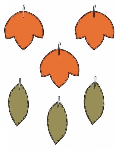 6 Décorations en papier feuilles d'automne
