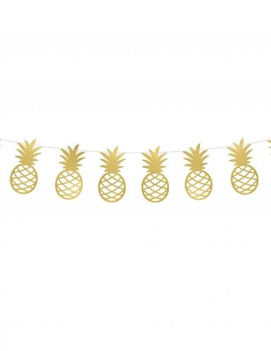 Guirlande à Faire Soi Même Ananas Doré Métallique 150 Cm