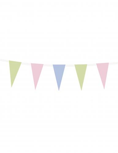Guirlande en papier fanions couleurs pastels 1,35 m