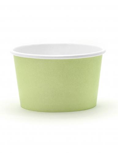 6 Petits pots à glace couleurs pastel 170 ml-1