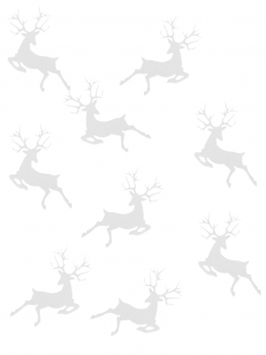 20 Confettis de table Renne de Noël blancs 2,3 x 3,6 cm