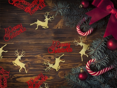 Confettis de table métallique Merry Christmas rouge 4 x 2 cm 3 g-2