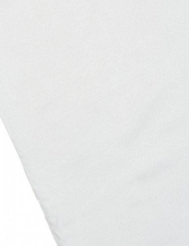 Chemin de table en daim blanc 28 cm x 3 m-1
