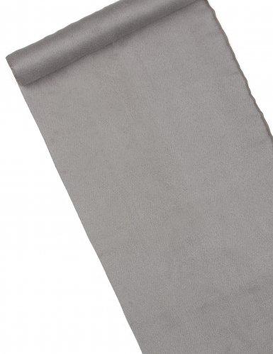 Chemin de table en daim gris 3 m
