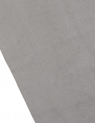 Chemin de table en daim gris 28 cm x 3 m-1