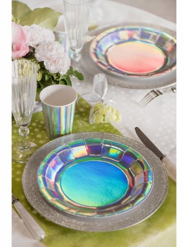 10 Assiettes en carton iridescentes 22,5 cm-1