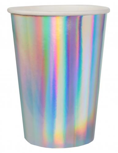 10 Gobelets en carton iridescents 7,8 x 9,7 cm