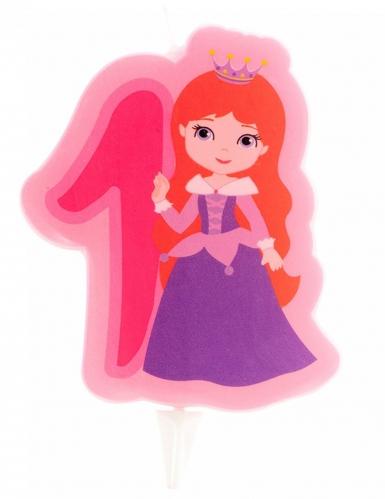 Bougie d'anniversaire Princesse chiffre 1 7 cm