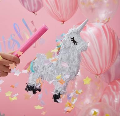 Mini piñata Licorne blanche 17 x 13 x 5,5 cm-1