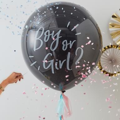 Ballon confettis Fille ou garçon ? 91 cm-1