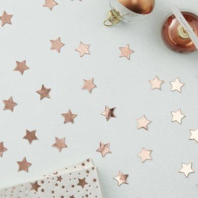 Confettis de table étoiles rose gold 14 g-1