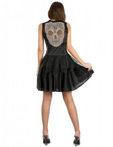 Déguisement robe squelette femme-1