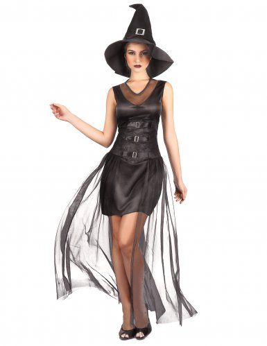 Déguisement sorcière noire chic femme