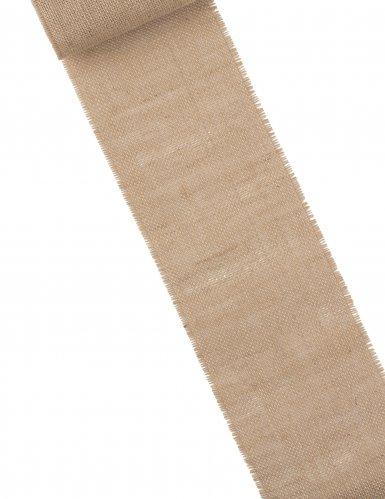 Chemin de table en toile de jute 15 cm x 5 m