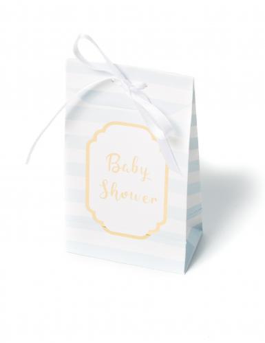 10 Pochettes cadeaux Baby Shower ciel et or 12,5 x 7,5 cm