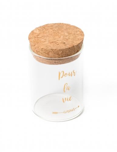 Fiole en verre avec bouchon en liège Pour La Vie doré 4,5 x 6 cm