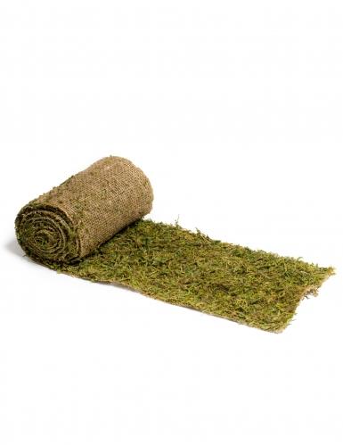 Chemin de table végétal en jute et mousse 20 cm x 2 m