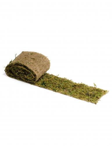 Chemin de table végétal en jute et mousse 10 cm x 2 m