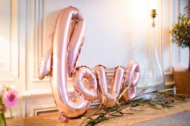 Ballon aluminium Love rose gold métallique 1 m x 67,6 cm-1