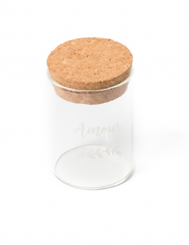 Fiole en verre avec bouchon en liège 6 cm
