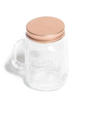 Mason jar en verre rose gold 8,5 cm