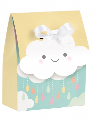 12 Sacs cadeaux Petit Nuage avec ruban 9 x 11,5 cm