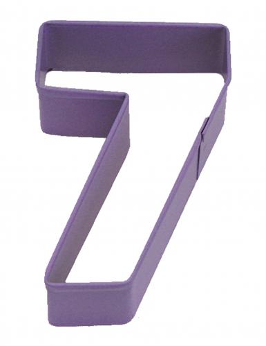 Emporte pièce chiffre 7 violet 7.5 cm