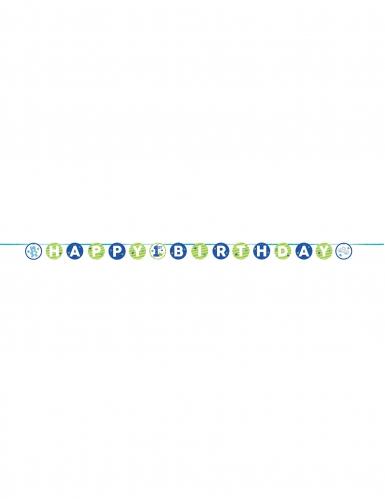 Guirlande en papier 1er anniversaire bleu 240 cm