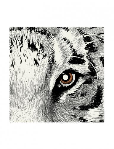 24 Petites serviettes en papier Oeil de Tigre 25 x 25 cm