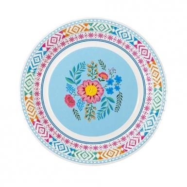 8 Assiettes en carton Florales 3 designs 23 cm-3