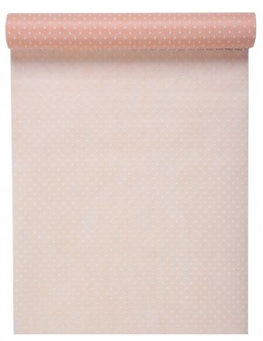Chemin de table en tissu plumetis rose 30 cm x 5 m